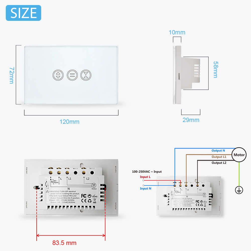 wifi curtain switch makes your electrical shutter blind smart voice control google home amazon alexa  [ 1000 x 1000 Pixel ]