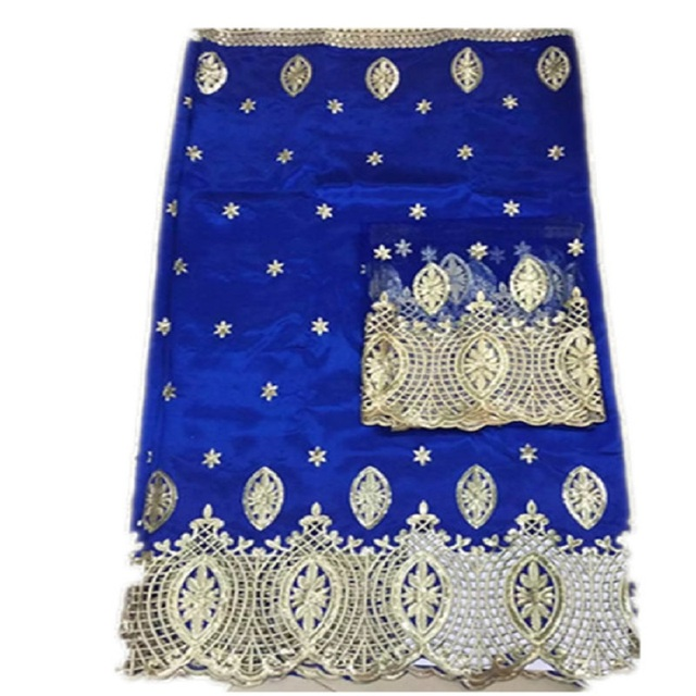 Wholesale Good quality cheap price Indian silk George lace fabric for royal color,African George fabric with sequins (lj
