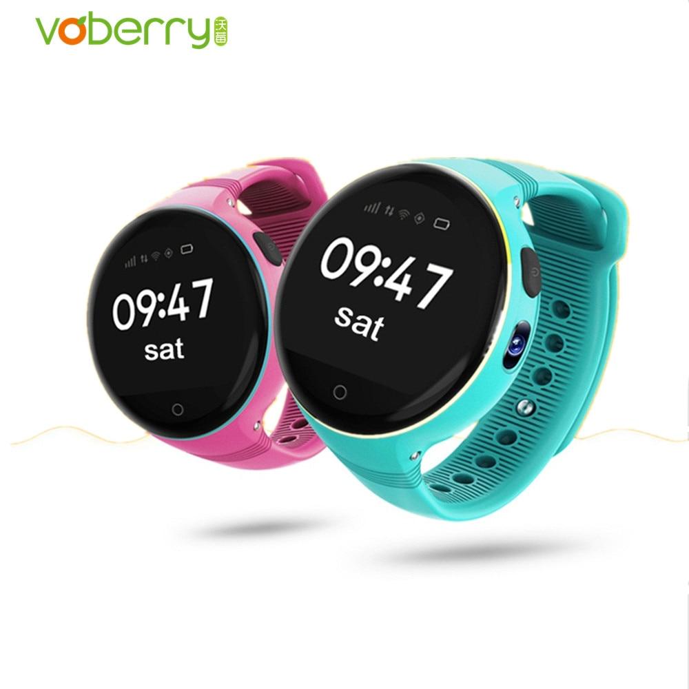 VOBERRY S668 Children Smart Watch Waterproof Round Screen SIM card GPS SOS Smartwatch Remote Viewfinder Watches for Kids smart baby watch q60s детские часы с gps голубые