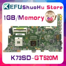 цена на KEFU For ASUS K73SD K73S N12P-GV-B-A1 GT520M A73SD A73S laptop motherboard tested 100% work original mainboard