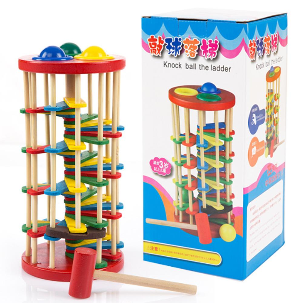Ball Toys For Toddlers : Original wooden multicolour ball ladder toy infant
