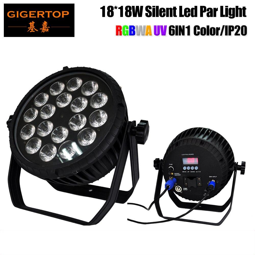 CRONUS 18 RGBWAU No Waterproof 18x18W Flat Led Par Light IP20 Waterproof Rate Power DMX In
