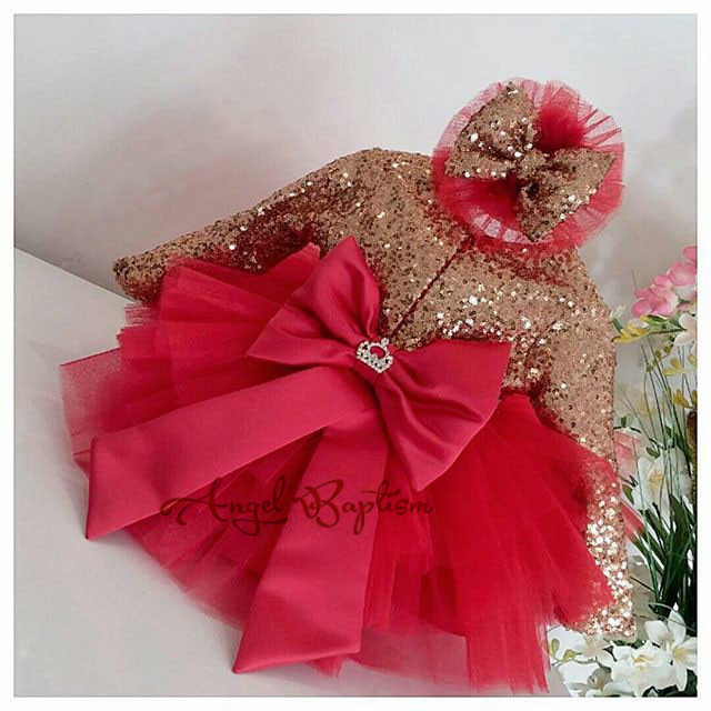 Glitter bling gold sequins red tulle infant long sleeve dress with bow girl cute prom gown baby 1st birthday party tutu outfits lilac tulle open back flower girl dresses with white lace and bow silver sequins kid tutu dress baby birthday party prom gown