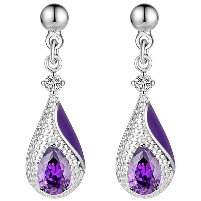 suit 925 sterling silver earrings necklace made new kit water suit fashion for women sterling silver jewelry in Bridal Jewelry Sets from Jewelry Accessories
