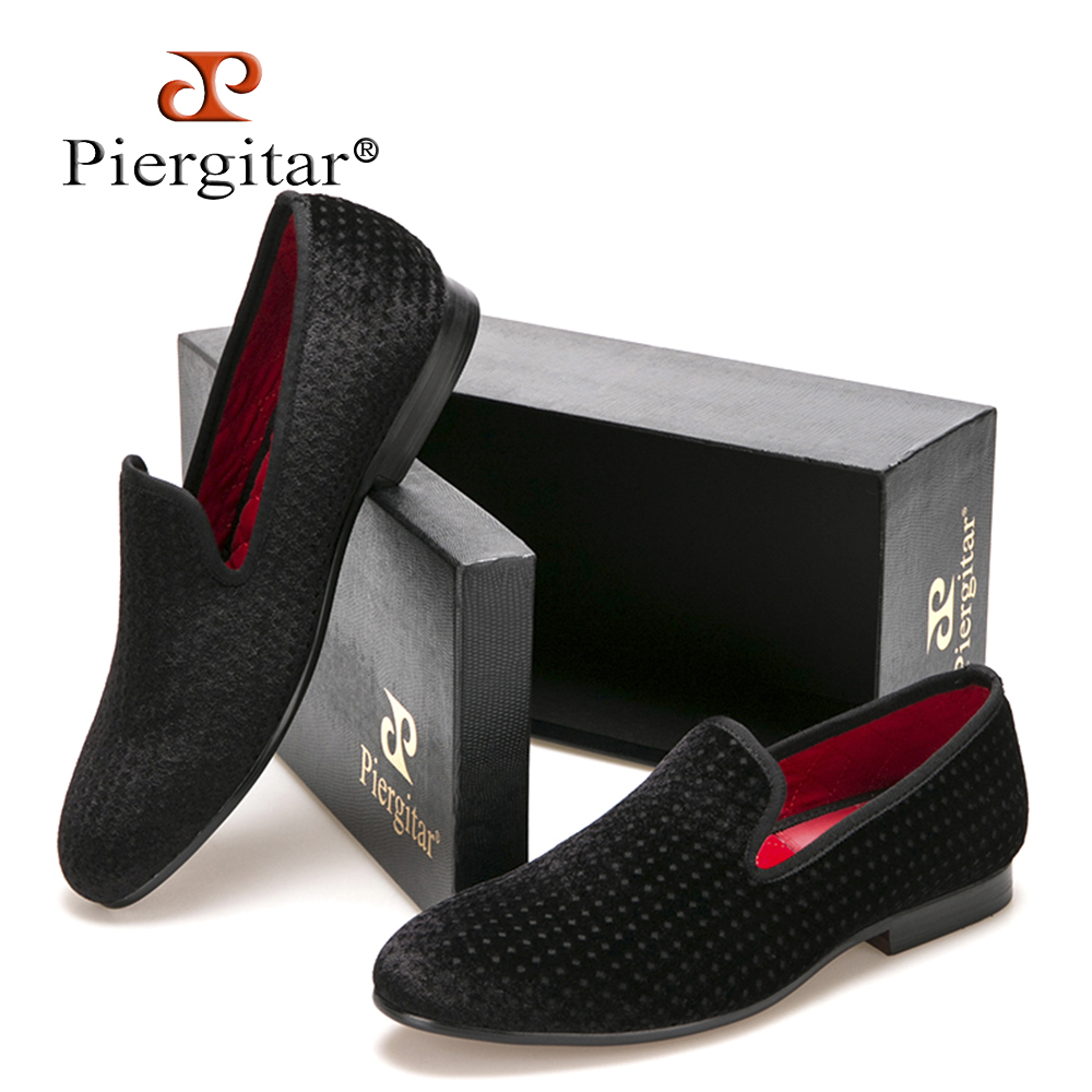 new arrival British loafers male black velvet embossed printing men Slip-on shoes men