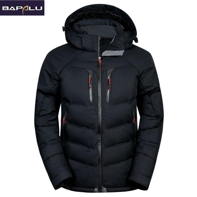 bea7795fe341d 2018 de los hombres de la moda chaquetas de invierno marca de ropa pato  blanco abajo