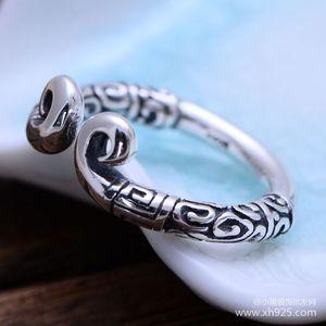 Image 2 - KJJEAXCMY fijne sieraden 925 Sterling zilveren sieraden herstellen oude manieren taiyin de heilige hoepel magic vrouwelijke stijl ring