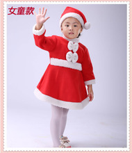 Winter Warm Party Dress for Girls Fleece Clothing Baby Girl Santa Clause Christmas Red Dress for Girl Kids Outfit 1 To 10 Years