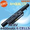 6 Células 4400 mAh bateria Do Portátil para Clevo C4500 C4501 C4505 W150 C4500Q C4500BAT-6 6-87-C480S-4P4 KB15030 C4500BAT 6