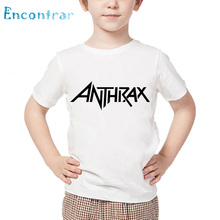 Kids Rock Metal Anthrax Music Band Print T shirt