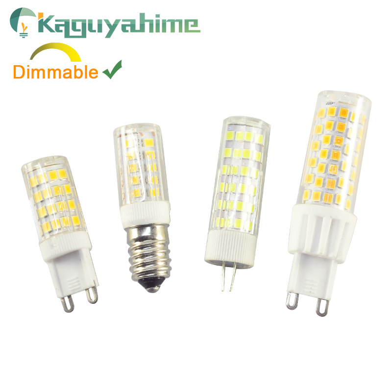 Kaguyahime 220V LED G9 G4 E14 Lamp Bulb Dimmable 3w 5w 9w G4 LED 12V Bulb For Chandelier Replace Halogen G9 LED Light Warm White