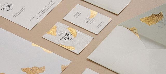 Simple Style 600gsm Feuille Dor Estampage Carte De Visite Typographie Personnalise Papier D