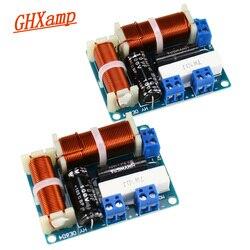 Ghxamp 2 way crossover áudio alto-falante placa mini tweeter graves estante de alta fidelidade altifalante divisor freqüência universal 80 w 2 pcs