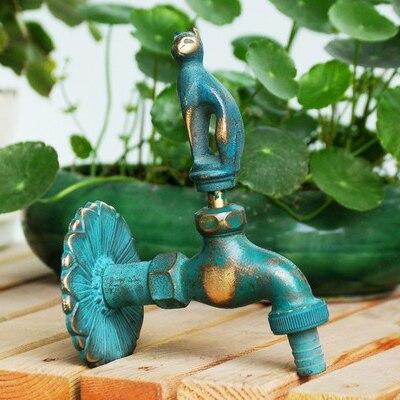 Хорошее Качество настенный 1/2 дюймов резьба 2 цвета 13 моделей латунный сад животное нагрудник кран - Цвет: Небесно-голубой