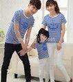 Новый 2017 мода лето дети дети футболки детские девушки парни семьи clothing устанавливает отец мать дочь сын с коротким рукавом