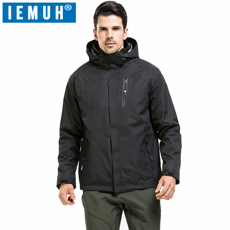 IEMUH New Brand Outdoor Jacket Waterproof Sports Men Windproof Climbing Hiking clothes skiing jacket winter jacket 3 in 1 HI-Q 2015 new outdoor climbing clothes two piece men sports suits coats winter waterproof men s skiing jacket snowboard outerwear