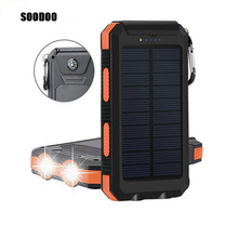 Bring A Compass Camping Lights 10000mah Charging Treasure Multi-function Is Three Solar Mobile Power Supply