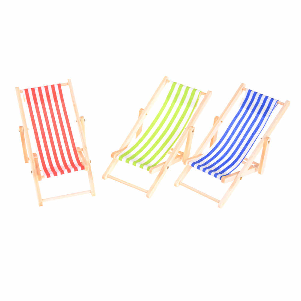 Miraculous Pretend Play Mini Beach Lounge Chair Dollhouse Miniature Chairs Garden Decoration Furniture Folding Stripe Deck Chair Home Decor Camellatalisay Diy Chair Ideas Camellatalisaycom