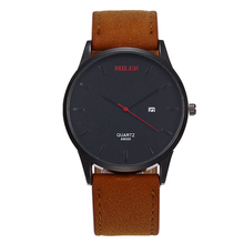 Luxury Brand Men Watches 2017 Top Grade Auto Calendar Leather Quartz Watch Casual Wristwatch Relogio Masculino 2017 Male Clock