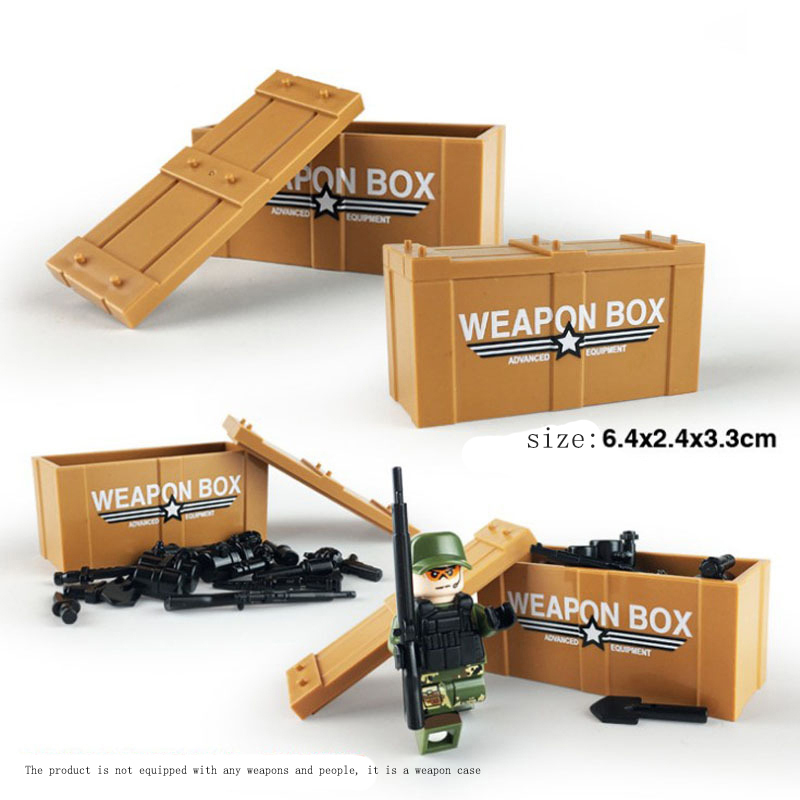 Hot Model Building Accessories Military Weapon Box Set Compatible goings Model Building blocks military weapon box toys JM177
