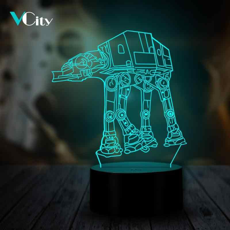 VCity 3D 夜の光主導の映画ファン ATAT USB ポータブルワイヤレスムードマルチカラー Rgb Luminaria ため変更子供のおもちゃ