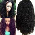 7А Glueless Полные Парики Шнурка Для Чернокожих Женщин Бразильский Странный вьющиеся Фронта Шнурка Человеческих Волос Парики 8-24 дюймов Все Красоты Волос продукты