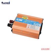 Car Power Inverter 500W Motor Inverter DC 12 24V To AC 220V 110V Power Inverter Charger