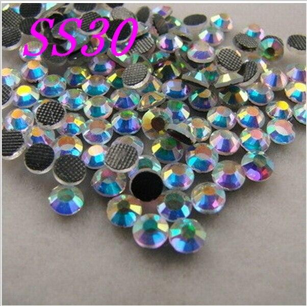 Comprar 5 obter 6 SS30 Cristal AB DMC HotFix Natator Pedrinhas, hot Fix glitters ferro-em pedra de cristal de vestuário