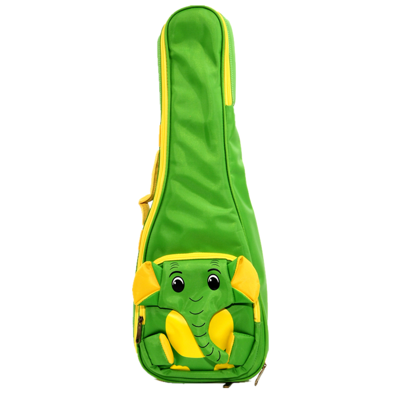 Elephant Colorful Waterproof Soprano Concert Tenor Ukulele Bag Case Backpack 21 23 26 Inch Beige Guitar Accessories Parts Gig 21 inch colorful ukulele bag 10mm cotton soft case gig bag mini guitar ukelele backpack 2 colors optional