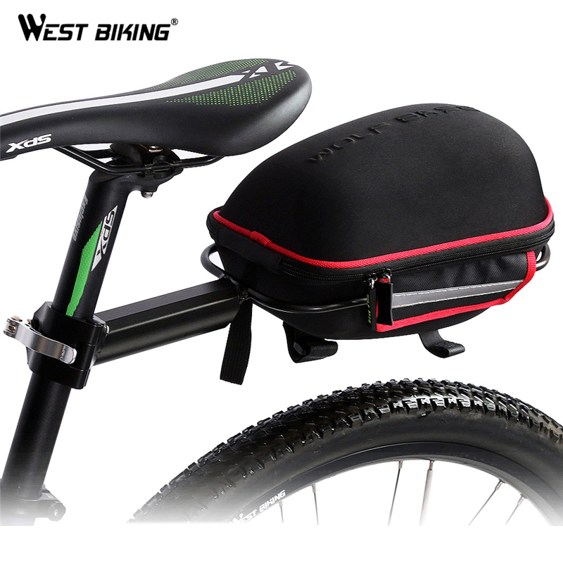 WEST BIKING Cycling Saddle Bag Reflective Waterproof Mountain Bike Cycling Tail Extending Rain Cover Bicycle Bike Rear Bag цена
