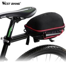 WEST BIKING Cycling Saddle Bag Reflective Waterproof Mountain Bike Cycling Tail Extending Rain Cover Bicycle  Bike Rear Bag