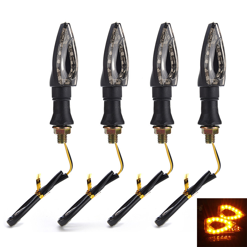 Universal Motorcycle LED Turn Signal Light Indicators Amber Blinker Light Motorcycle Turn Signal Indicator Light Lamp 12V 1.3W