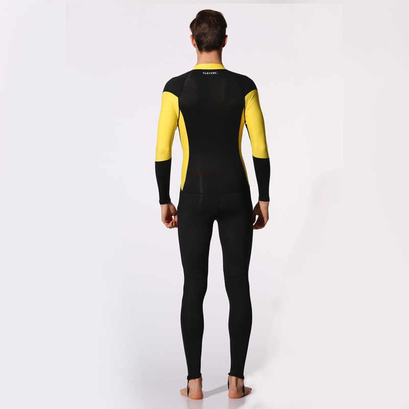 Hisea mannen Een Stuk Wetsuit Zon Uv-bescherming Lycra Snel Droog Duikpak Lange Mouw Kwallen voor Pak swim Surf Water Sport