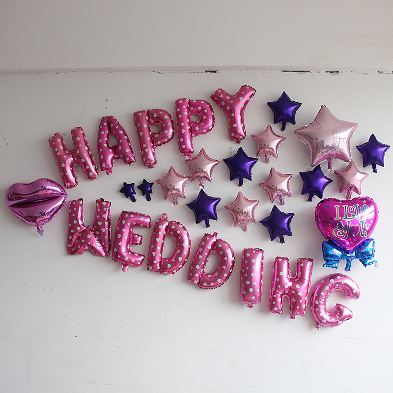 Creative festive wedding supplies wedding a romantic Valentine's day balloon dec