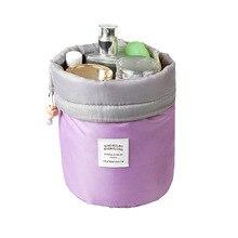 TTOU Fashion Barrel Shaped Cosmetic Bag Make up Bag Drawstring Elegant Drum Wash Kit Bags Makeup Organizer Storage Bag