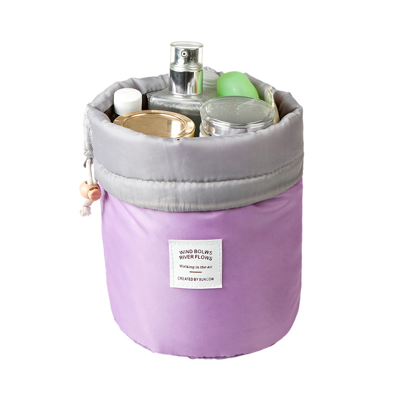 TTOU Fashion Barrel Shaped Cosmetic font b Bag b font Make up font b Bag b