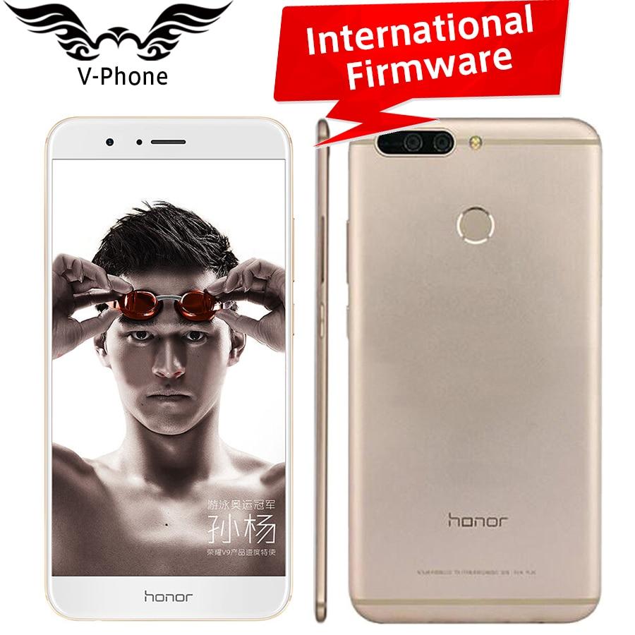 Internat Huawei Honor V9 4G LTE Mobile Phone 5 7 2560x1440 6GB RAM 64GB ROM