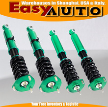Green Adjustable Coilover Suspension Kits for 86-92 Toy*ta Sup*a Base Hatchback 2D 3.0L