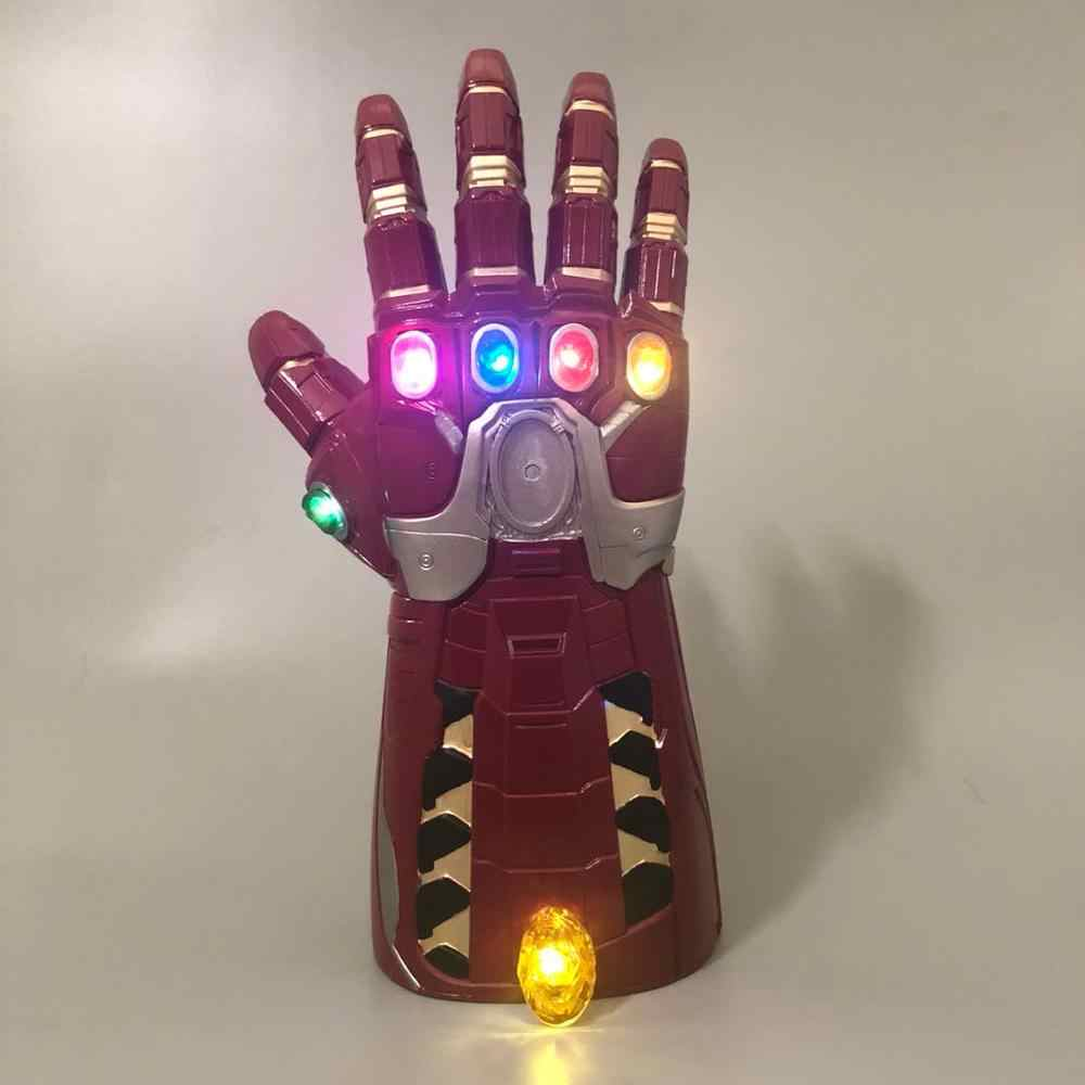 The Avengers 4 Endgame Thanos Guanti Cosplay Prop Avengers LED Guanti IN PVC Infinity Gauntlet Bambini Giocattoli Per Adulti Del Partito di Halloween Nuovo