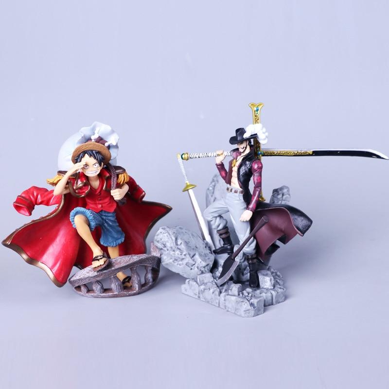 Monkey D Luffy One Piece Roronoa Zoro Dracule Mihawk: 15cm Anime One Piece Pvc Action Figure Dracule Mihawk
