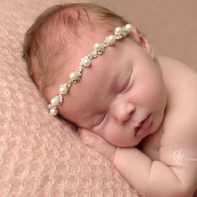 Baby Headband Infant Pearl Headbands Newborn Elastic Hair Band Photograph  Baby Hairband Headwear Hair Accessories e0d6f9d3796