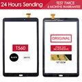 ИСПЫТАНО Оригинальный Датчик Сенсорный Экран Для SAMSUNG Galaxy Tab E 9.6 SM-T560 T561 T560 Сенсорного Экрана Digitizer OEM Панели Клей