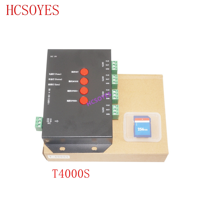 T4000S LED RGB Controller Configurable SD Card DC5V sk6812 WS2812B WS2811 WS2801 LP6803 led digital pixel stripsT4000S LED RGB Controller Configurable SD Card DC5V sk6812 WS2812B WS2811 WS2801 LP6803 led digital pixel strips