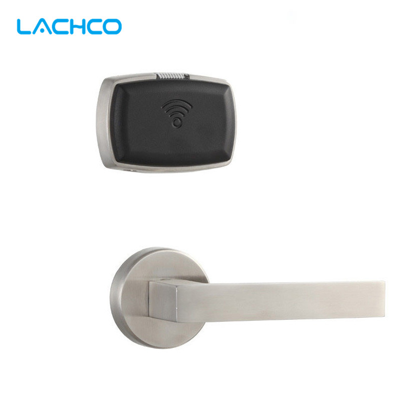 LACHCO Smart Electronic Door Lock RFID Card with Key Lock For Home Office Hotel Room Split Design  L16063STC lachco card hotel lock digital smart electronic rfid card for office apartment hotel room home latch with deadbolt l16058bs