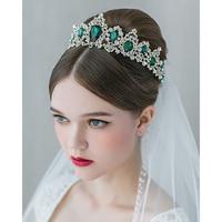 1 cái Cổ Điển Pha Lê Hoàng Thái Rhinestone Vương Miện mũ bằng tay váy Cưới phụ kiện bridal tóc trang sức