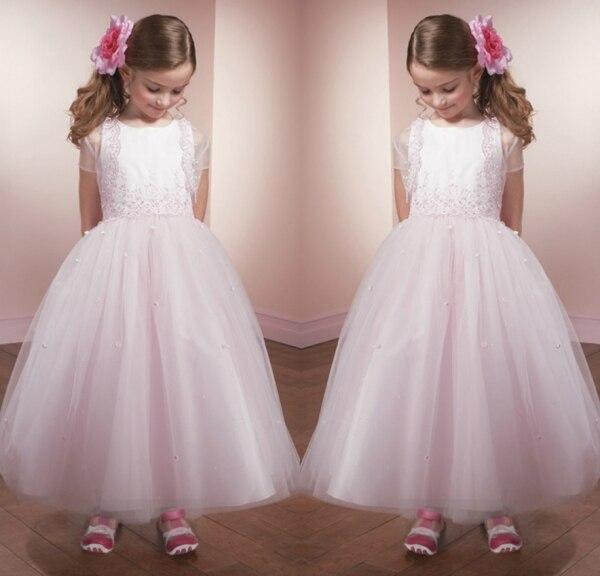 b290dda69ad 2014 belle rose fleur fille robes avec veste en dentelle Appliques nouvel  an Costumes pour enfants