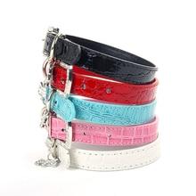 Beautiful, charming rhinestone Dog Leather Collar
