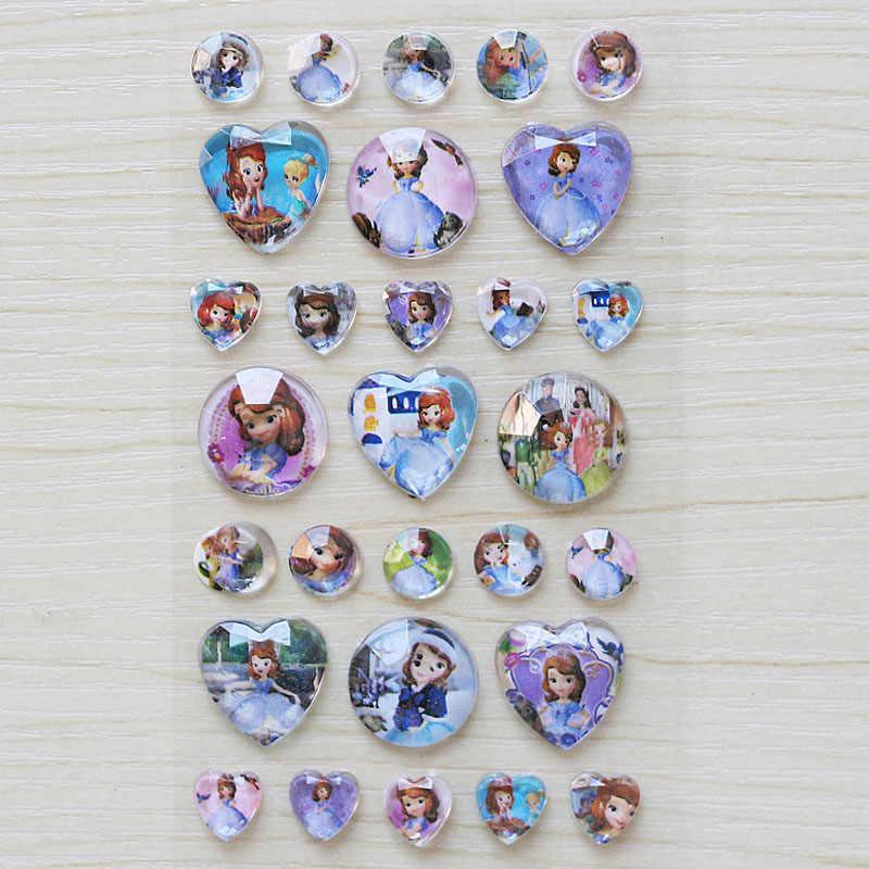 1 шт./лот Эльза и Анна алмазные 3D наклейки Микки София Белоснежка Классические игрушки для детей подарок