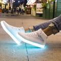 man fashion  LED Flash Luminous new Light Shoes Adults High Top Patchwork Classic 11 LED Color USB Chagring Man shoe Hot Fashion