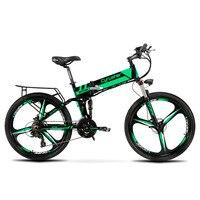 Cyrusher XF700 MTB Mans Folding Electric Bike Mountain Bike 17 X 26 Inch Full Suspension 250